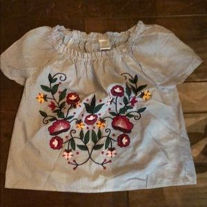 Arizona Jeans floral top girls size xs/ 6/6x